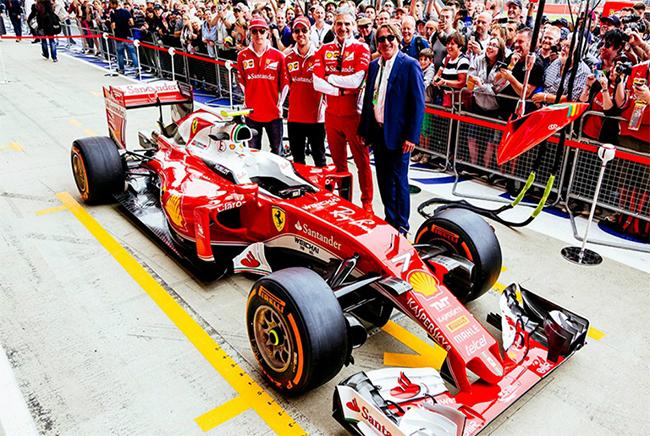 雷朋成为法拉利车队品牌赞助商,知名太阳镜品牌亮相F1赛场
