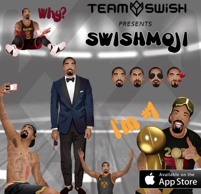 JR史密斯发布个人表情App,续约骑士未决先赚点外快