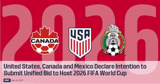 美国加拿大墨西哥联合申办2026年世界杯,内马尔遭禁赛或无缘国家德比 | 懒熊早知道