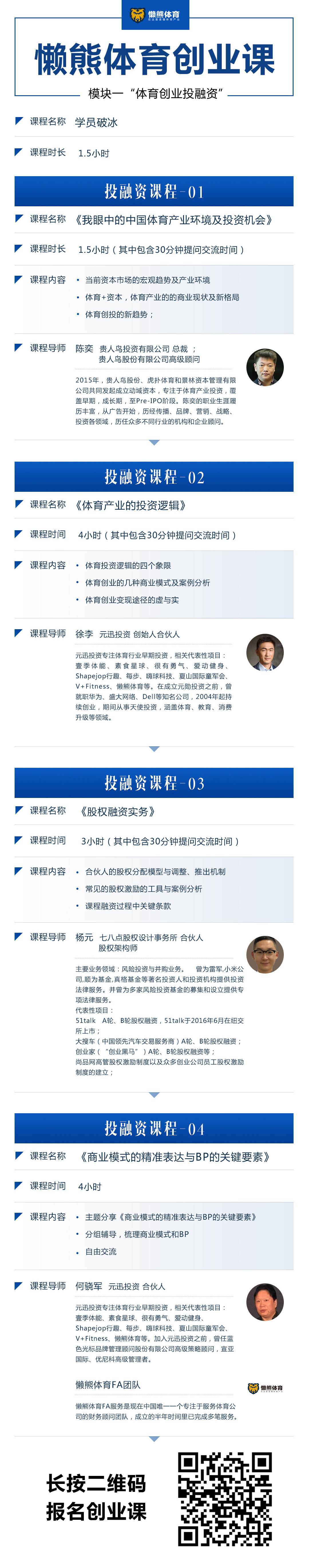 上海,懒熊体育创业课来了,这次我们讲讲体育创业投融资的干货
