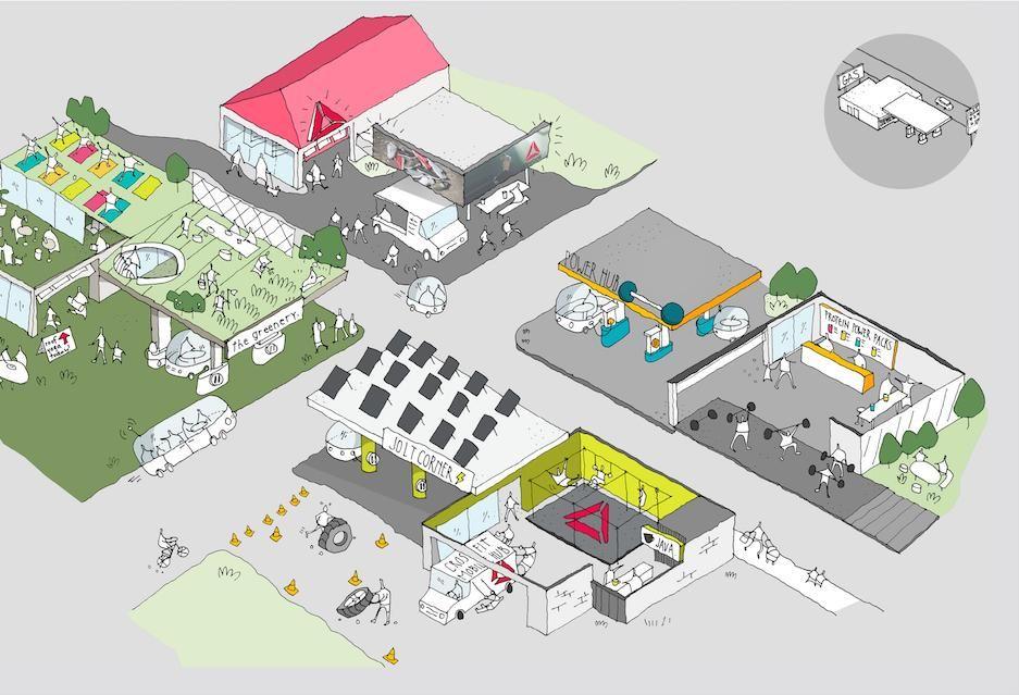 将加油站变成健身中心?锐步首家健身中心将于2030年前开业