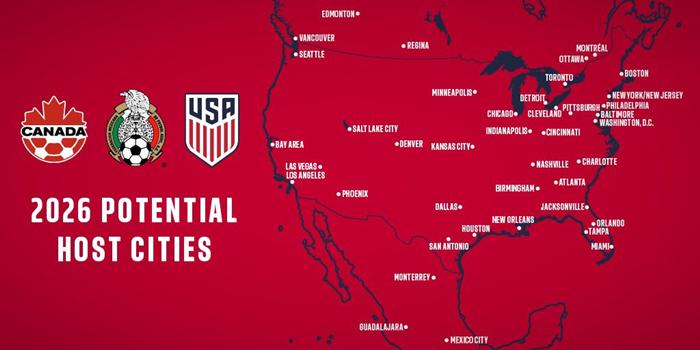 """申办2026年世界杯,北美联合申办团要以""""钱""""取胜"""