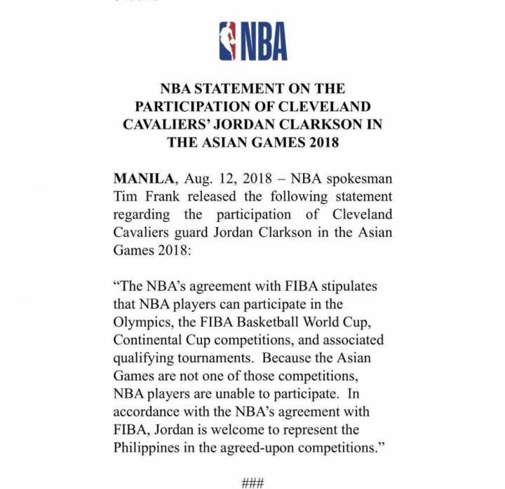 参赛资格确定,NBA特批周琦、丁彦雨航和克拉克森参加亚运会
