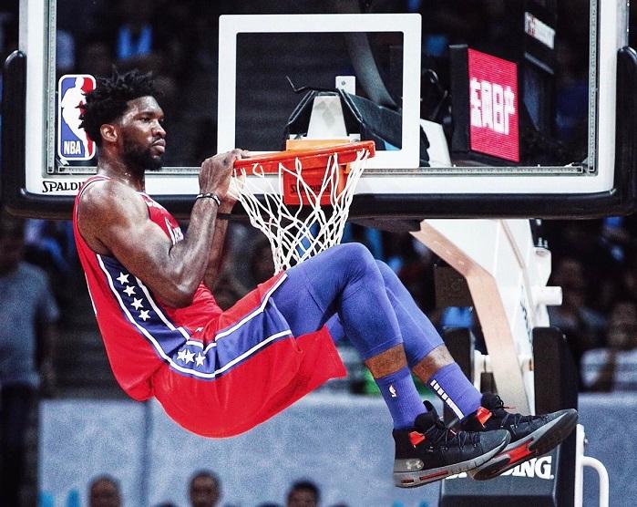 官宣:安德玛签下NBA费城76人中锋恩比德