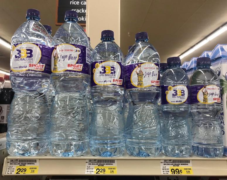 BBB品牌推出瓶装水产品,球爹称要将此打造成10亿美元的生意