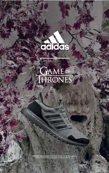 阿迪达斯与《权力的游戏》合作,推出限量款UltraBOOST联名跑鞋