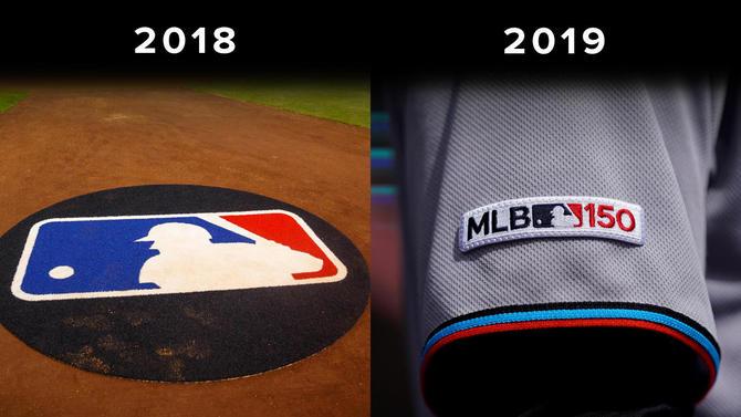 美国职棒大联盟已更新联盟logo并应用于新赛季,颜色与美国国旗完全一致