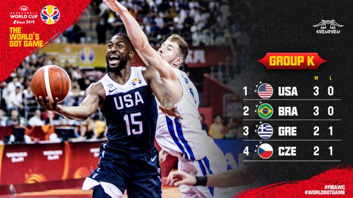 篮球世界杯16强出炉,美国遭遇希腊,塞尔维亚对决西班牙