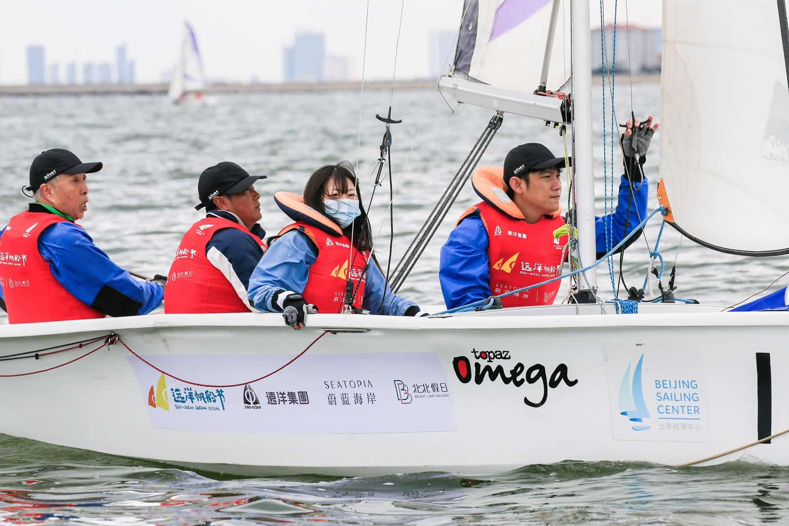 """我一个""""旱鸭子""""小白选手 参加了首届中国帆船名人赛"""