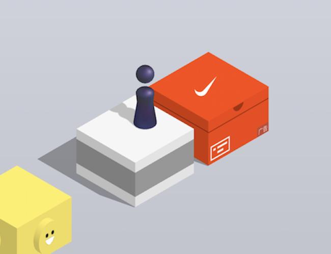 """耐克或成为""""跳一跳""""首个广告品牌,但你跳了多少分才看到他们的鞋盒?"""