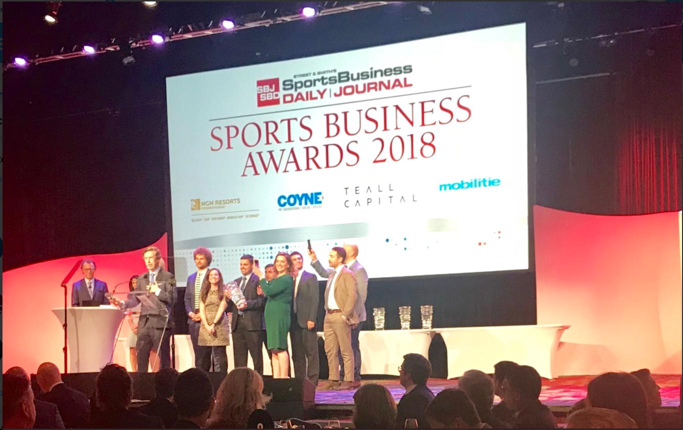 2018 Sports Business Awards 颁奖典礼举行,最佳数字体育媒体花落ESPN