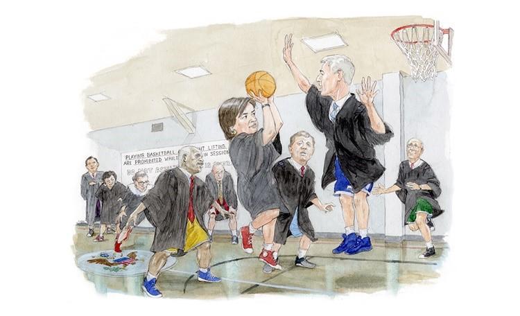 一块球场背后的美国法律史:联邦最高法院的篮球故事