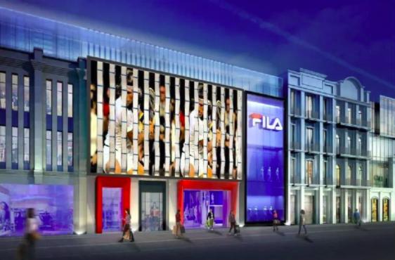 FILA宣布黄景瑜任时尚运动代言人,并集合四大品类开国内第一大门店