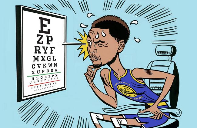 """库里亲承患有眼疾,升级""""瞄准镜""""之后的他还能变得多准?"""