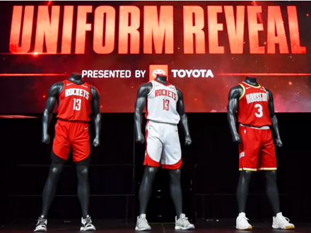 火箭队发布新赛季球衣,自2003年以来首次改版