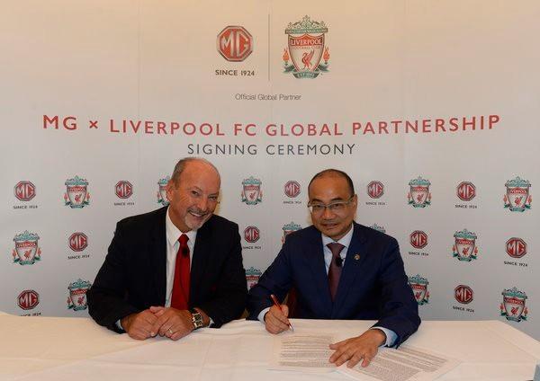 利物浦延长与MG名爵合作关系,后者升级为全球合作伙伴