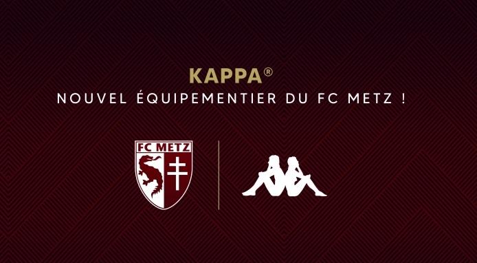 Kappa与法甲球队梅斯达成3年合作,成为其装备赞助商
