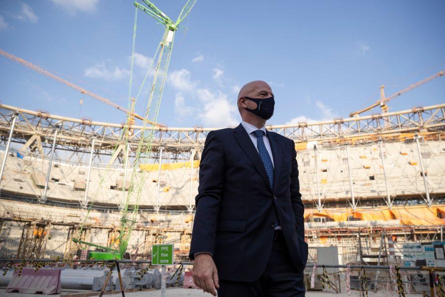 国际足联主席参观卡塔尔世界杯球场,未来亚洲最大球场由中国公司承建